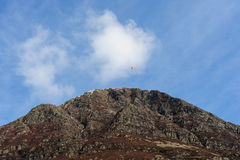 Paragliding above Grasmoor, Buttermere Stock Photography