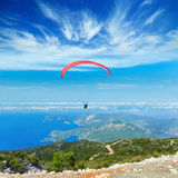 Paragliding - active extreme sports Stock Photo