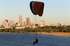 Paragliding adventure Stock Image