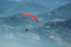 Paragliding in The Alps Stock Image