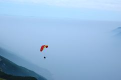 Paragliding in The Alps Stock Photography