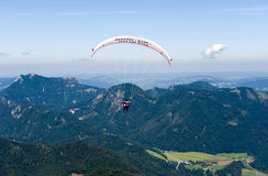 Paragliding in alps Stock Photography
