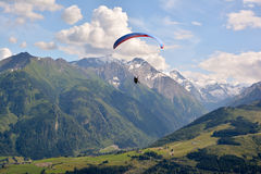 Paragliding in the alps Stock Photos