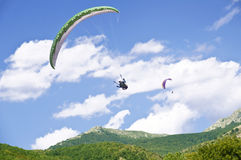 Paragliding. As extreme and fun sport Royalty Free Stock Photography