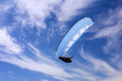 Paragliding on background of sky and clouds Stock Photo