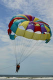 Paragliding on the beach the Monpiche Royalty Free Stock Photography