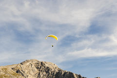 Paragliding in the blue sky Stock Image