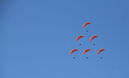 Paragliding. The paragliding in blue sky(Nepal Stock Photography