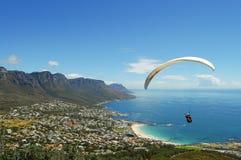 Paragliding - Cape Town - Sydafrika Arkivfoton
