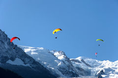 Paragliding in Chamonix, France Royalty Free Stock Photos