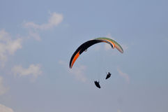 Paragliding competition in Indonesia Stock Image