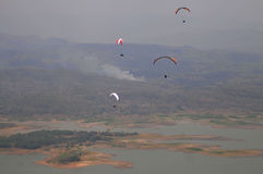 Paragliding competition in Indonesia Stock Photography