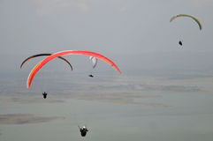 Paragliding competition in Indonesia Royalty Free Stock Photo
