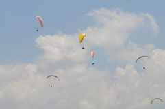 Paragliding competition in Indonesia Royalty Free Stock Photography