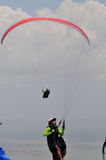 Paragliding competition in Indonesia Royalty Free Stock Images