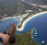 Paragliding (de Oludeniz - Fethiye) Fotos de archivo