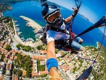 paragliding Die Türkei, Kas Lizenzfreies Stockfoto