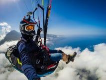 paragliding Die Türkei, Oludeniz Stockfoto