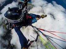 paragliding Die Türkei, Oludeniz Stockbild