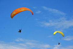 Paragliding duo Stock Images