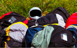 Paragliding equipment Royalty Free Stock Images