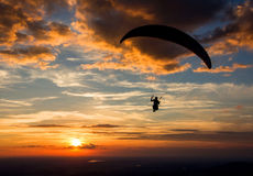 Paragliding. Before the evening (Salzburg Stock Photo