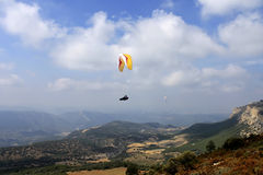 Paragliding, flying free Royalty Free Stock Image