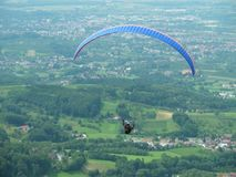 Paragliding, free flying Royalty Free Stock Images