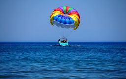 Paragliding for fun must be colorful Stock Photography
