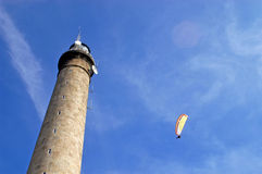 Paragliding Gatteville - Normandy - France Royalty Free Stock Image