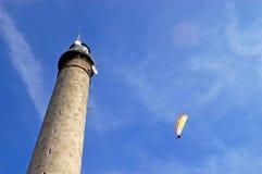 Paragliding Gatteville - Normandy - France Royalty Free Stock Image