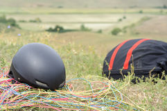 Paragliding gear Stock Photo