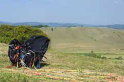 Paragliding gear Royalty Free Stock Image