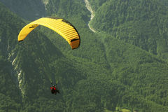 Paragliding in green Stock Photography