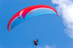 Paragliding. This image shot at Makapuu, Hawaii, a favorite spot for paragliders Royalty Free Stock Photography