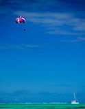 Paragliding in the Indian Ocean. Off Mauritius Royalty Free Stock Image