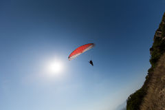 Paragliding in Italy Royalty Free Stock Images