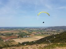 Paragliding in Italy stock photos