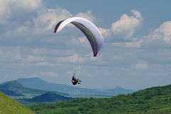 Paragliding. Look on Paragliding in czech republic Stock Image