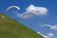 Paragliding. Look on Paragliding in czech republic Royalty Free Stock Photos