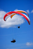 Paragliding. Look on Paragliding in czech republic Stock Photo