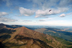 Paragliding man Royalty Free Stock Photo
