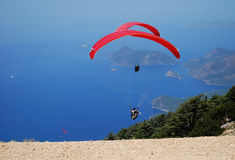 Paragliding in Mediterranean Stock Photography