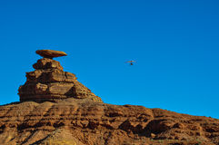 Paragliding at Mexican Hat, Utah, USA Stock Photo