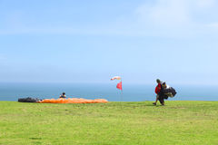 Paragliding in Miraflores, Lima, Peru Royalty Free Stock Photo