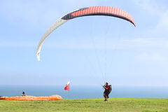 Paragliding in Miraflores, Lima, Peru Royalty Free Stock Photos