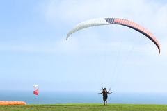 Paragliding in Miraflores, Lima, Peru Stock Images
