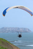 Paragliding in Miraflores, Lima, Peru Royalty Free Stock Image
