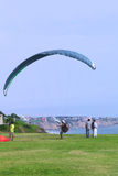 Paragliding in Miraflores, Lima, Peru Royalty Free Stock Images