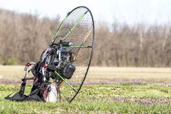 Paragliding motor, Royalty Free Stock Photos